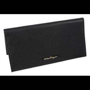 Black Salvatore ferragamo breas wallet bifold
